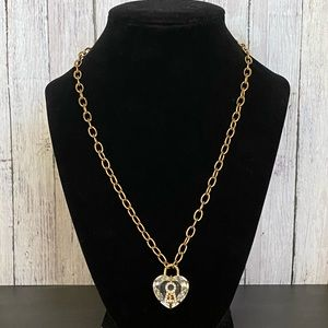 Juicy Couture crystal heart necklace